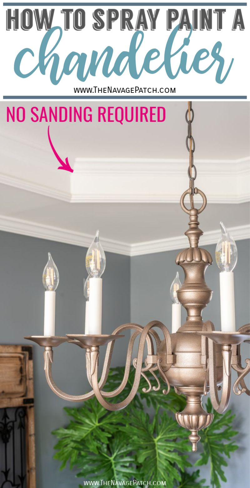 Easy DIY Chandelier Makeover - TheNavagePatch.com