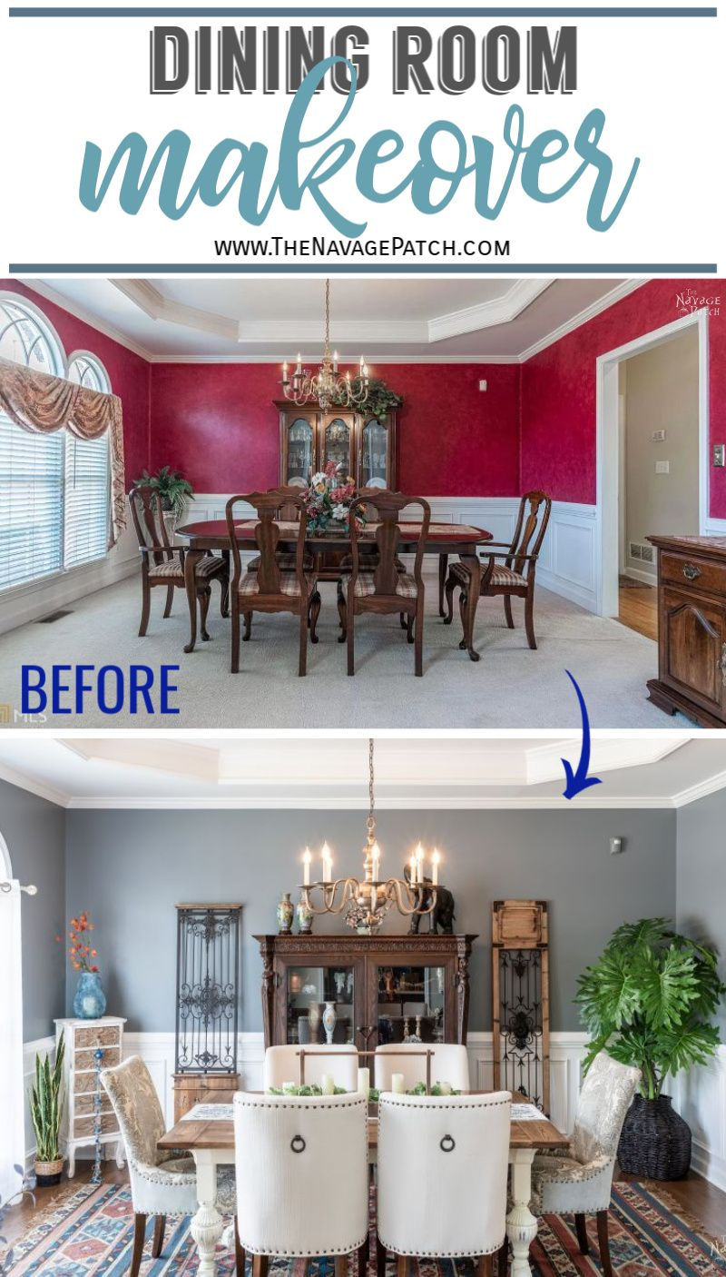 Dining room makeover - TheNavagePatch.com