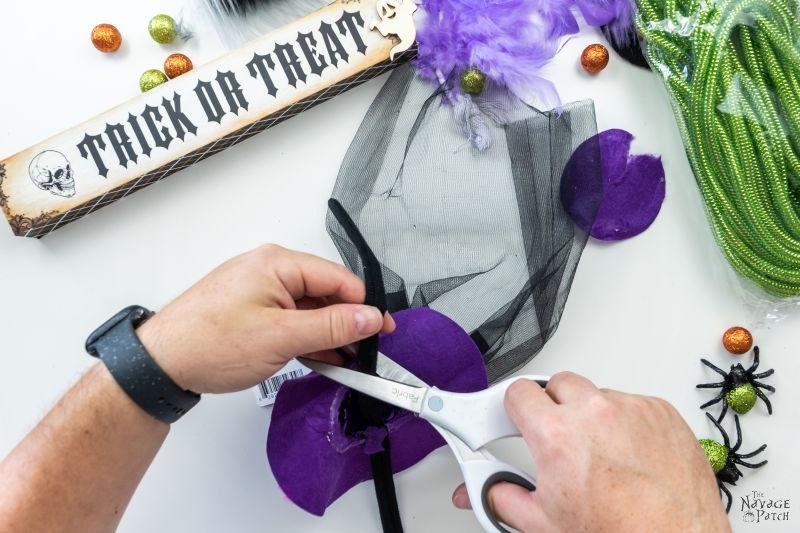 cutting a witch hat