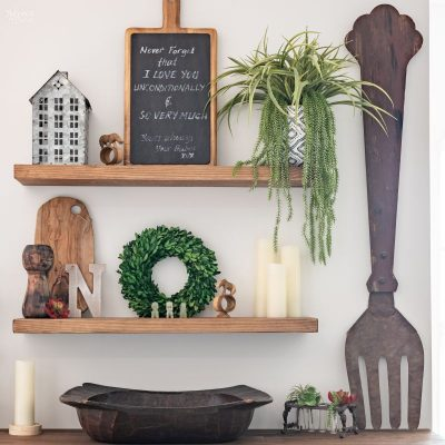 DIY Floating Shelves - TheNavagePatch.com