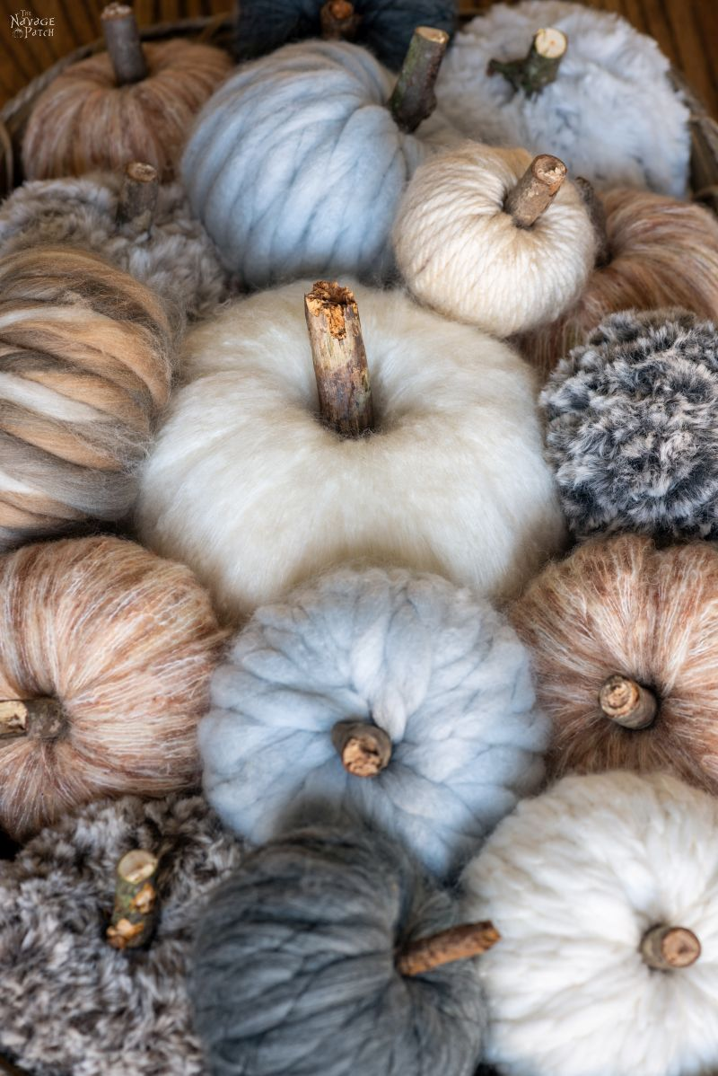 Easy DIY Yarn Pumpkins - TheNavagePatch.com