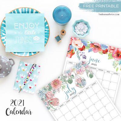 Free Printable Calendar 2021 - TheNavagePatch.com