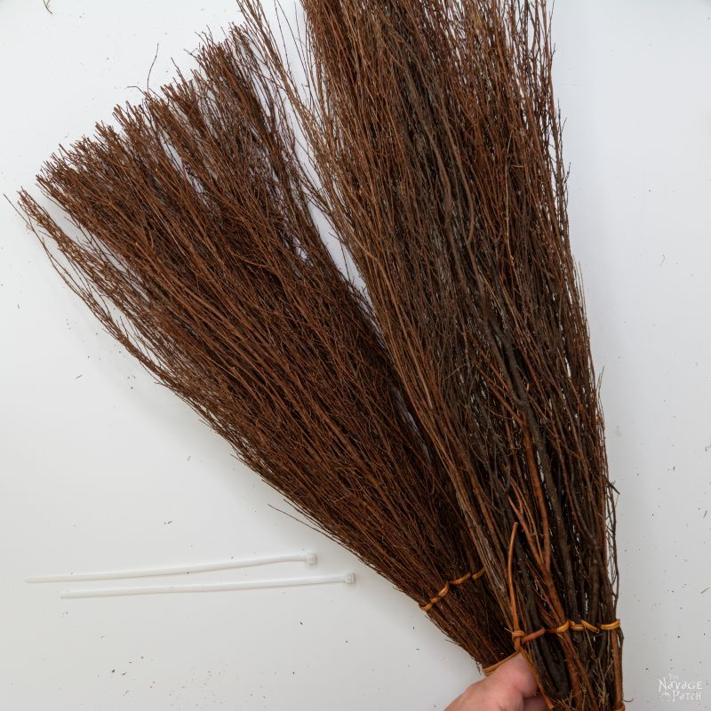 two scented brooms