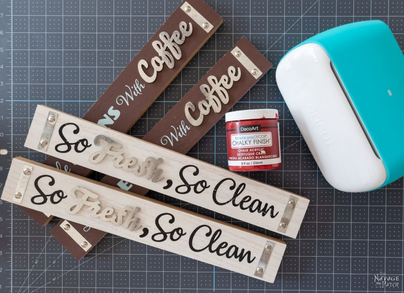 supplies for diy christmas signs