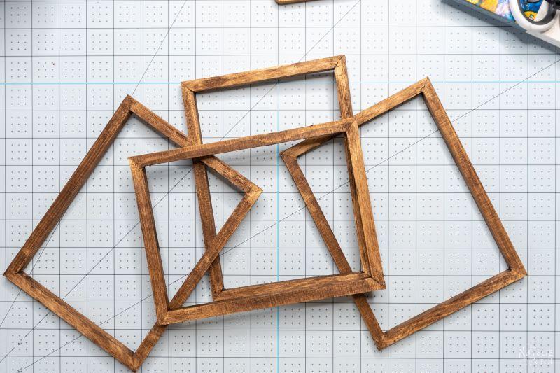 antiqued wood frame