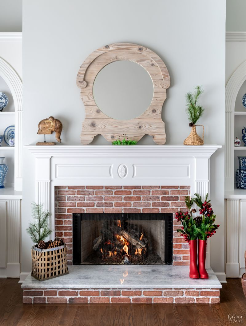 Fireplace Makeover - TheNavagePatch.com