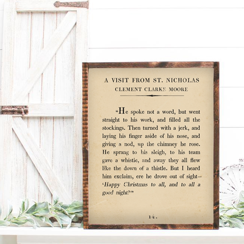 Free Christmas Book Page Printables - TheNavagePatch.com