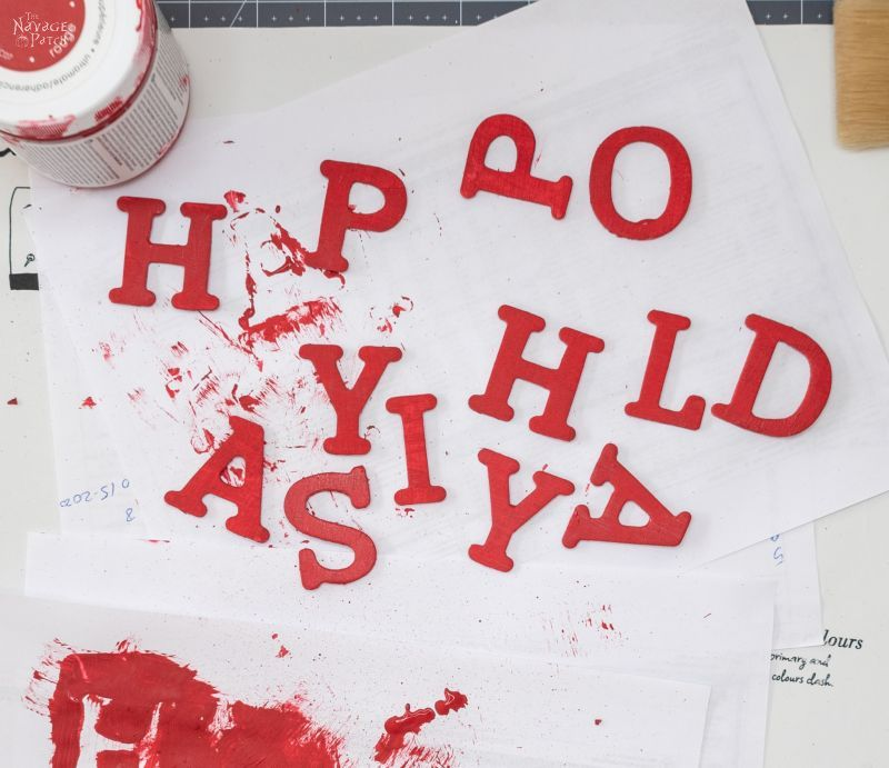 painting wood letters