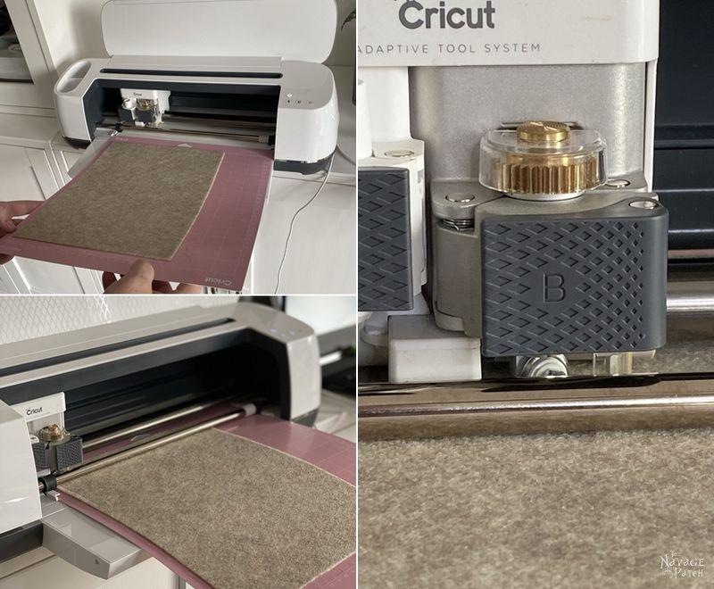 Cricut maker cutting felt
