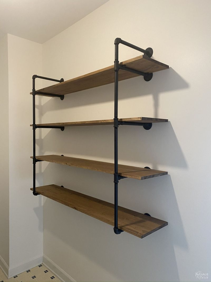 DIY Industrial Pipe Shelves – TheNavagePatch.com