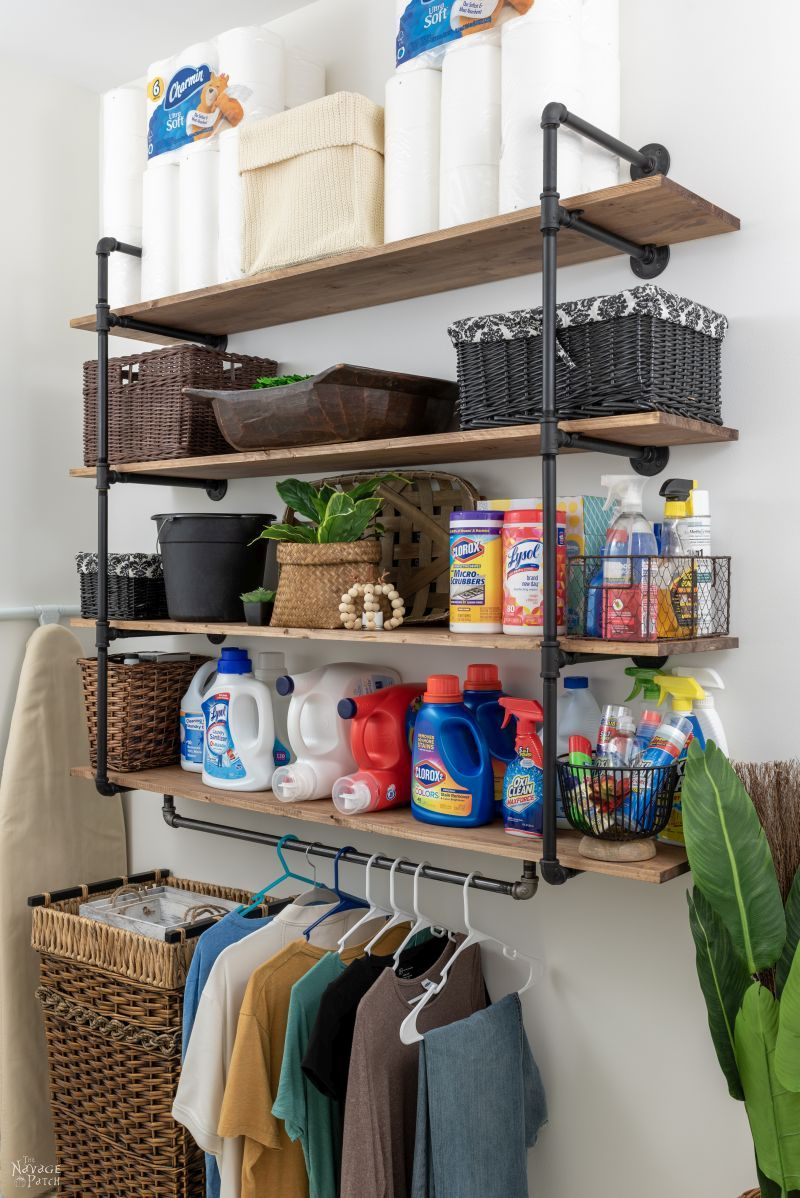DIY Industrial Pipe Shelves - TheNavagePatch.com