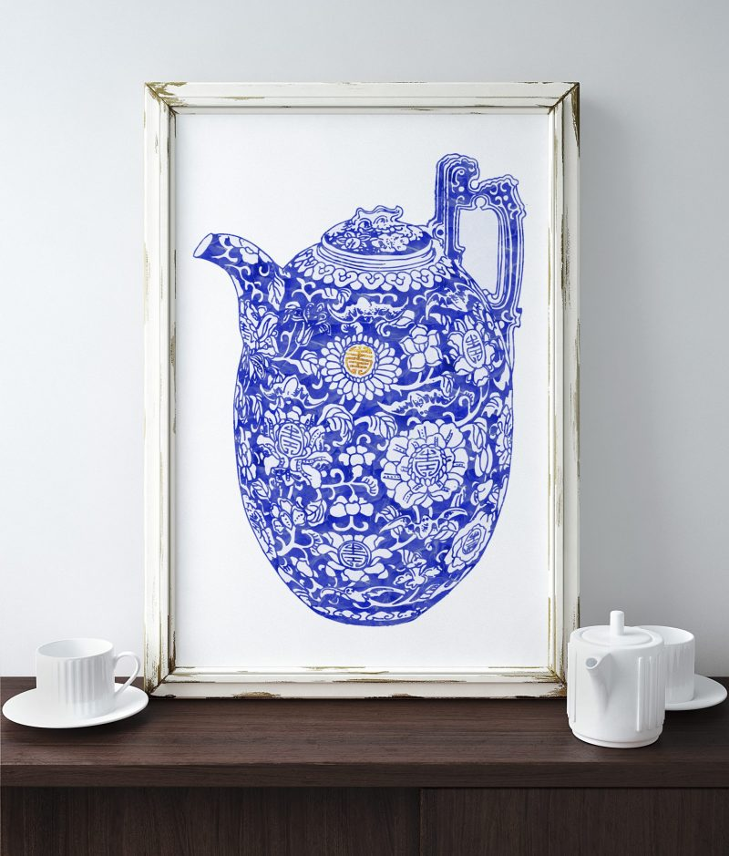 Free Blue and White Porcelain Art Printables - TheNavagePatch.com