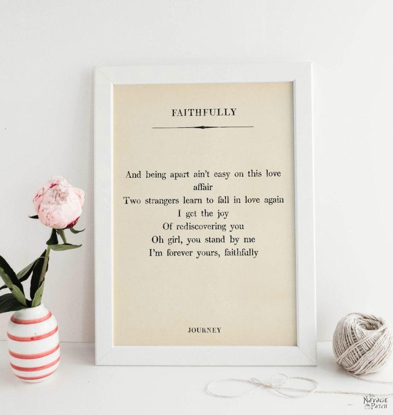Free Printable Love Song Lyrics Art - TheNavagePatch.com