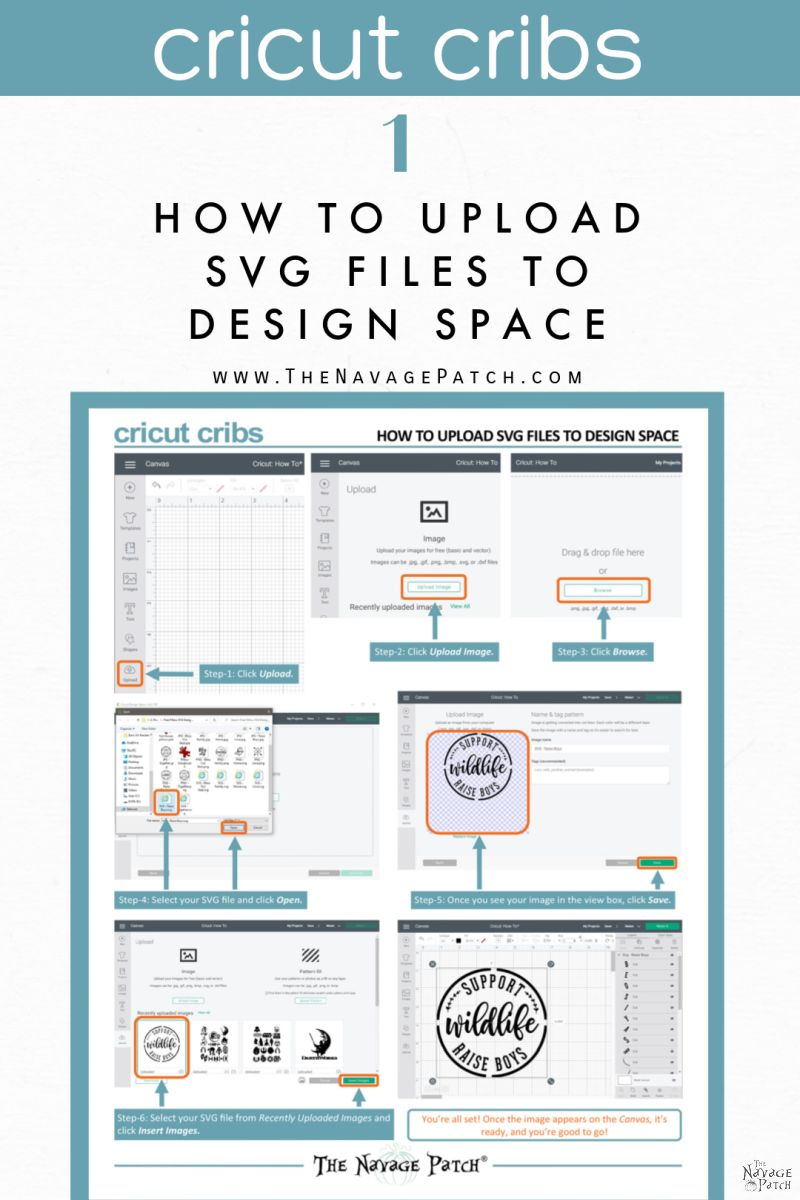 How to Upload SVG files to Cricut Design Space - TheNavagePatch.com