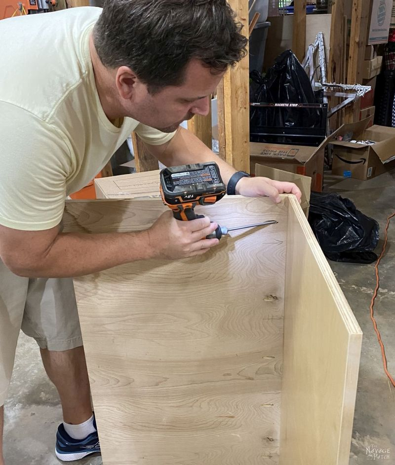 screwing plywood together