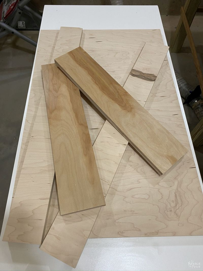 cutting plywood to make a drawer