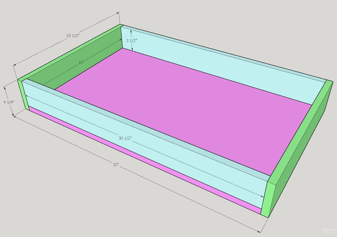 Sketchup of a drawer