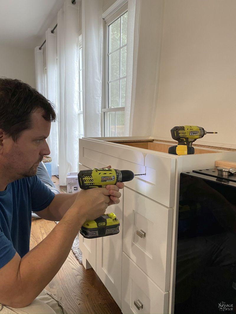 drilling for drawer hardware
