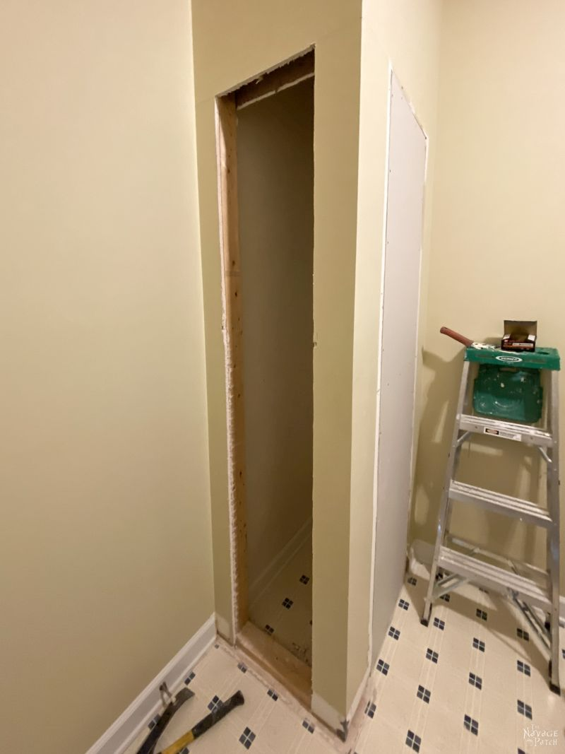 Laundry Chute Makeover - TheNavagePatch.com