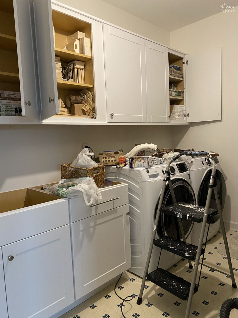 new laundry room cabinets