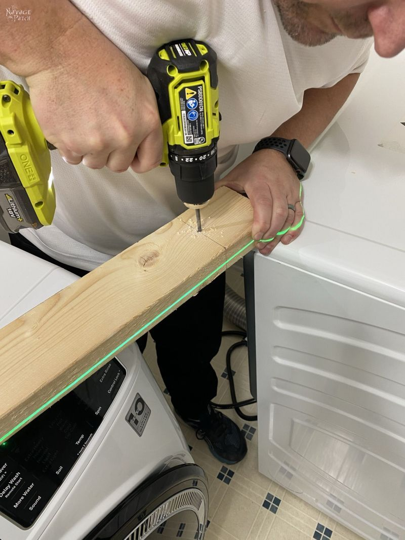 adding counter supports to a wall