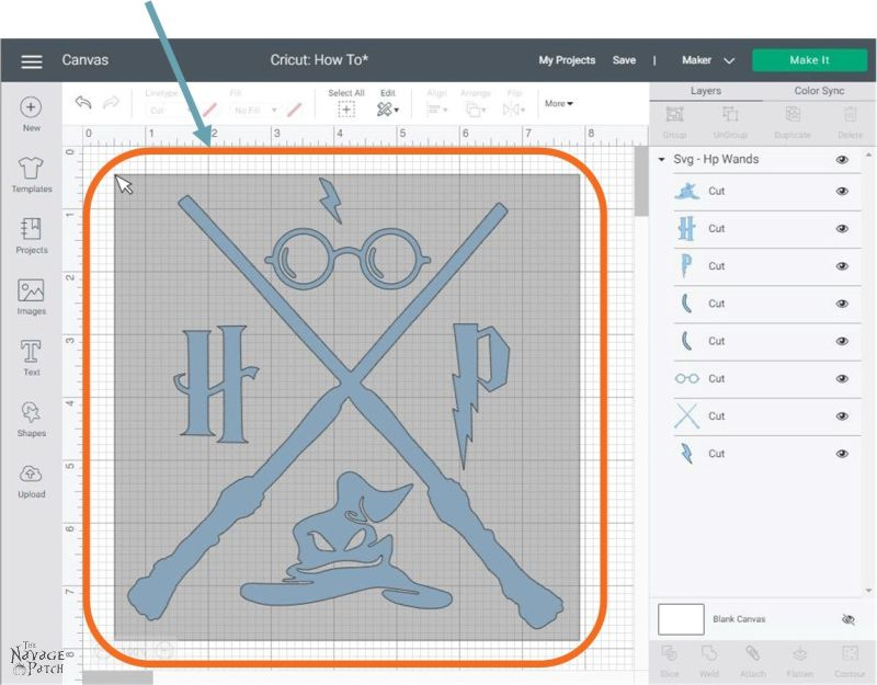 How to Attach in Cricut Design Space - TheNavagePatch.com