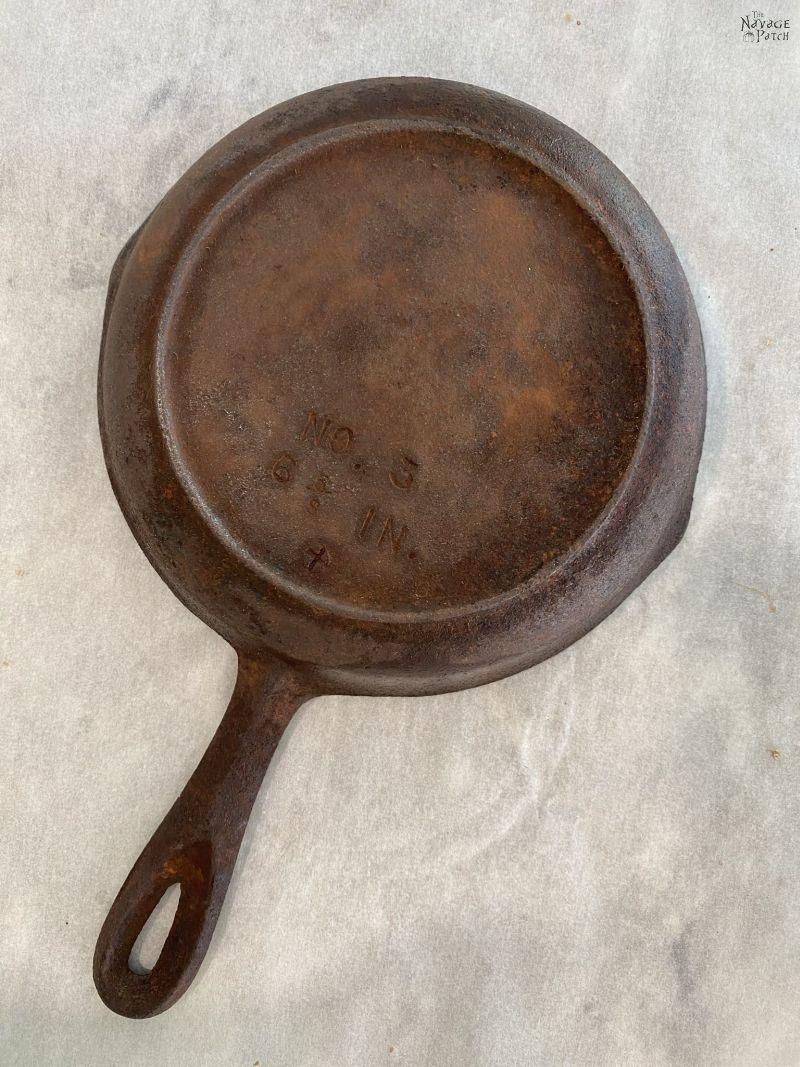 restoring a cast iron pan