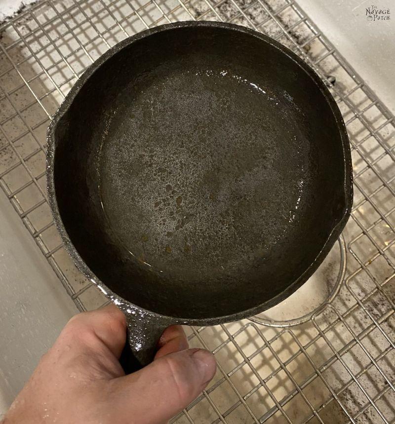 restored cast iron pan