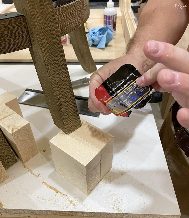 how to shorten stool legs