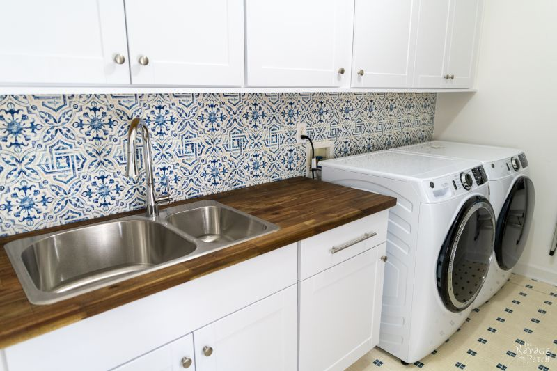 laundry room almost finished