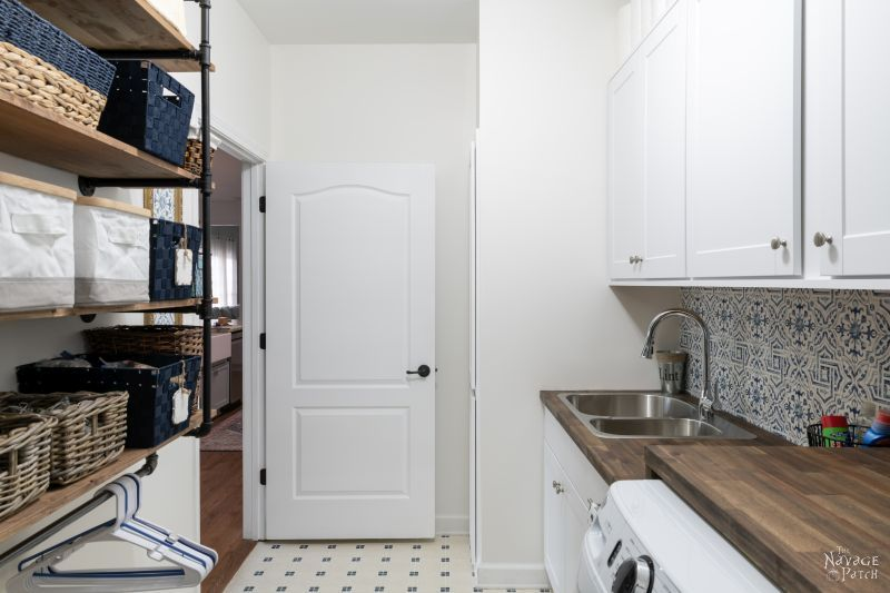 Laundry Room Remodel Reveal - TheNavagePatch.com