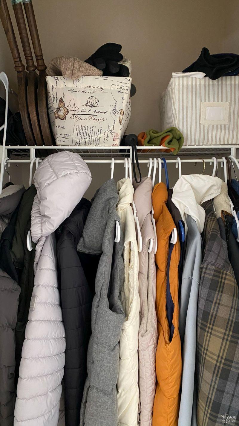messy coat closet