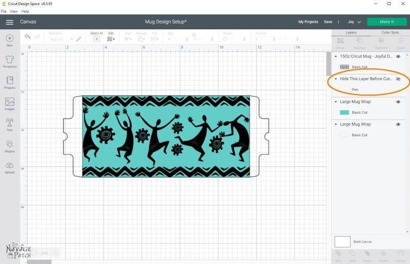 Making mugs designs in Cricut Design Space