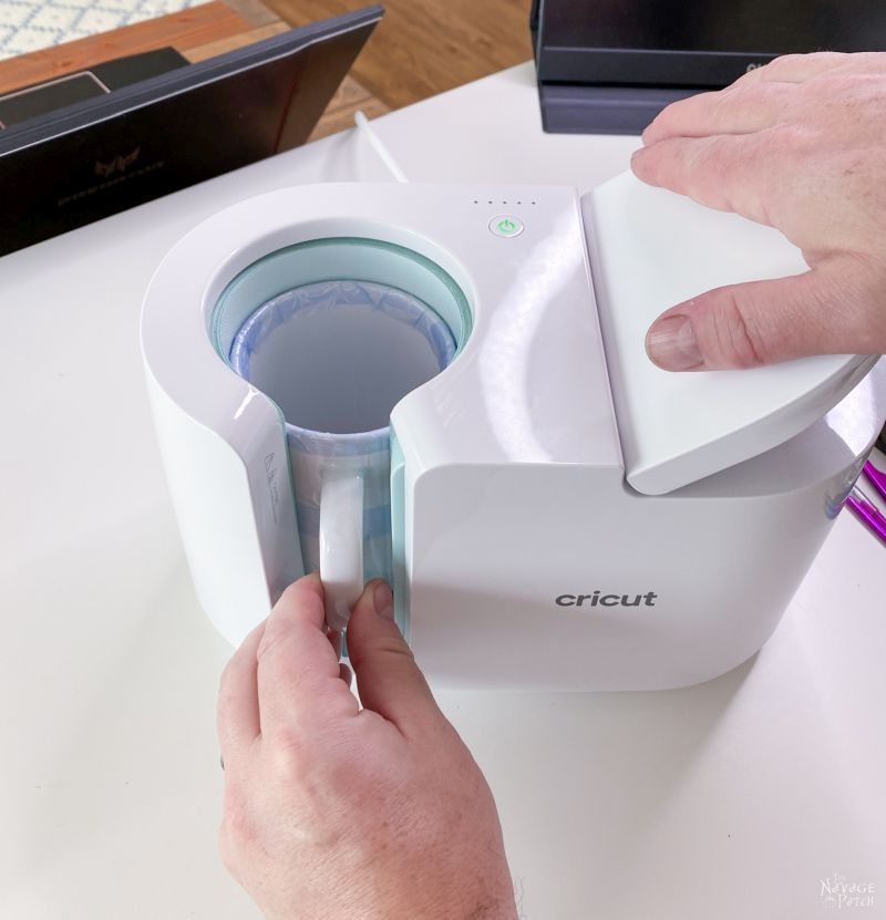 making a personalized mug with cricut mug maker