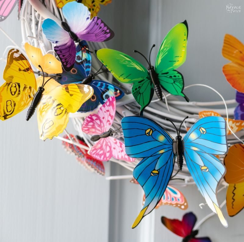DIY Butterfly Wreath - TheNavagePatch.com