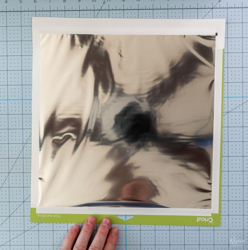 putting foil on cricut mat