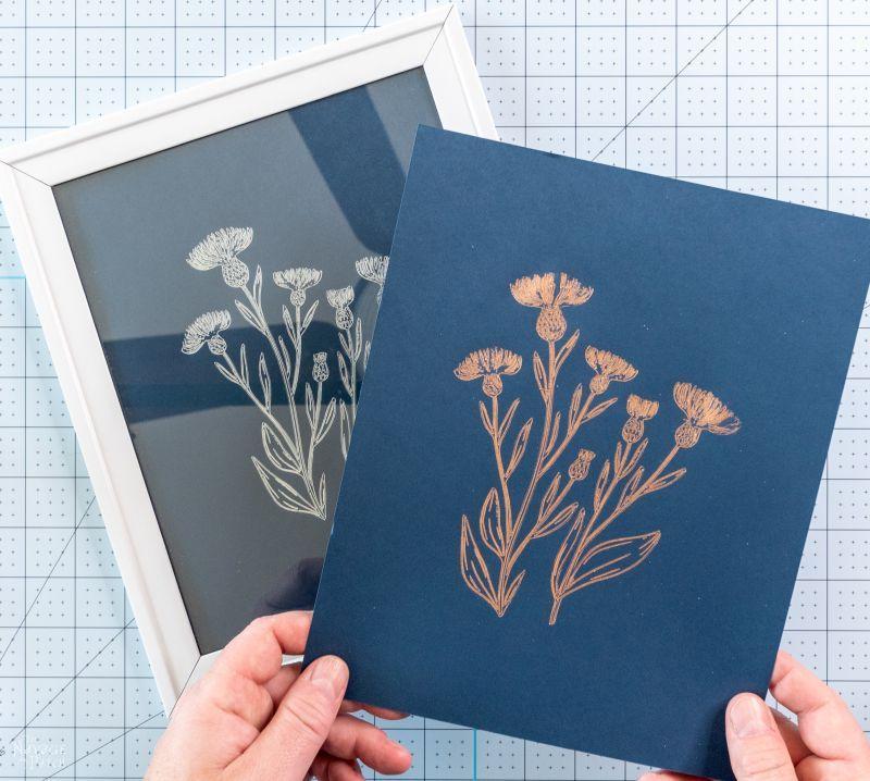 making foil flower line art