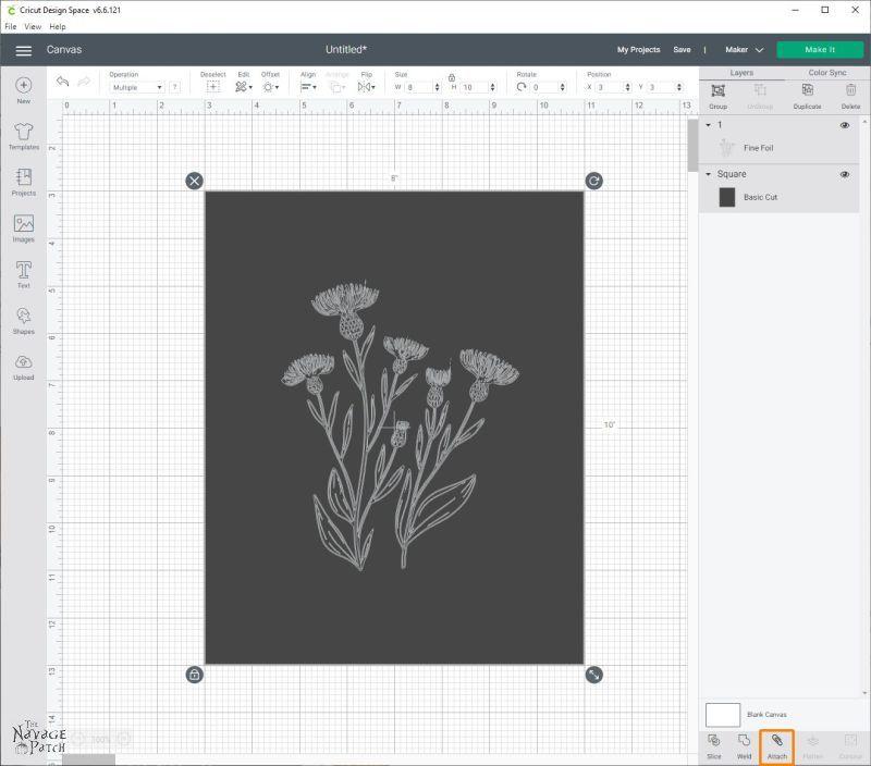 cricut design space foil line art