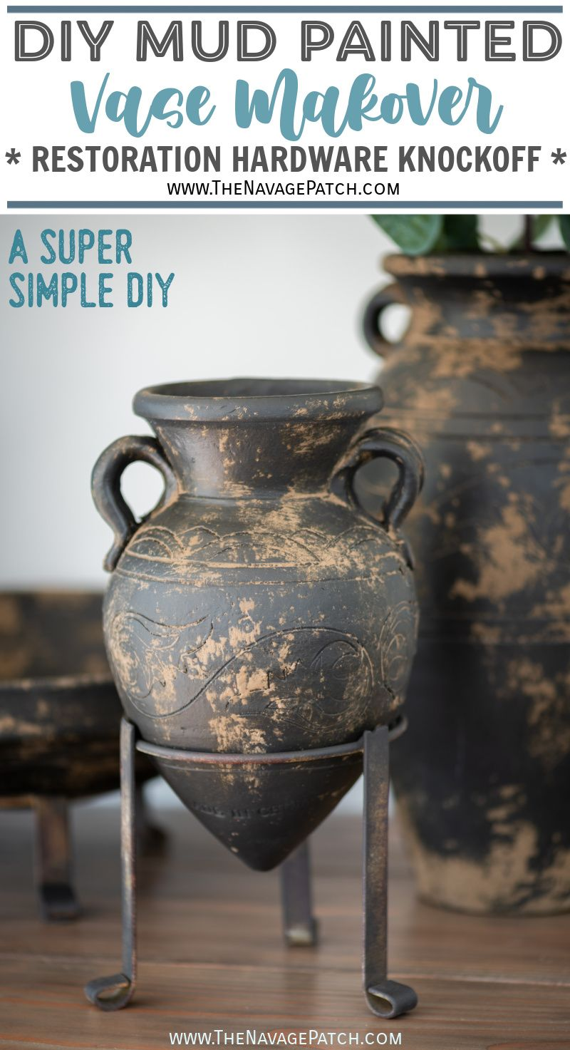 DIY Mud Painted Pottery - TheNavagePatch.com