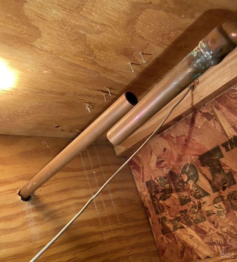 cutting copper pipes