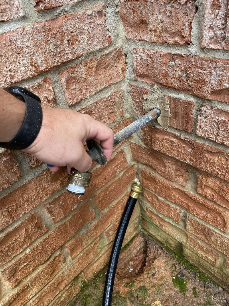 removing old hose bib