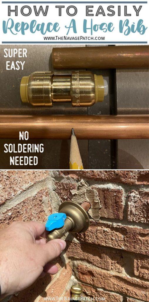 how to replace a hose bib - TheNavagePatch.com
