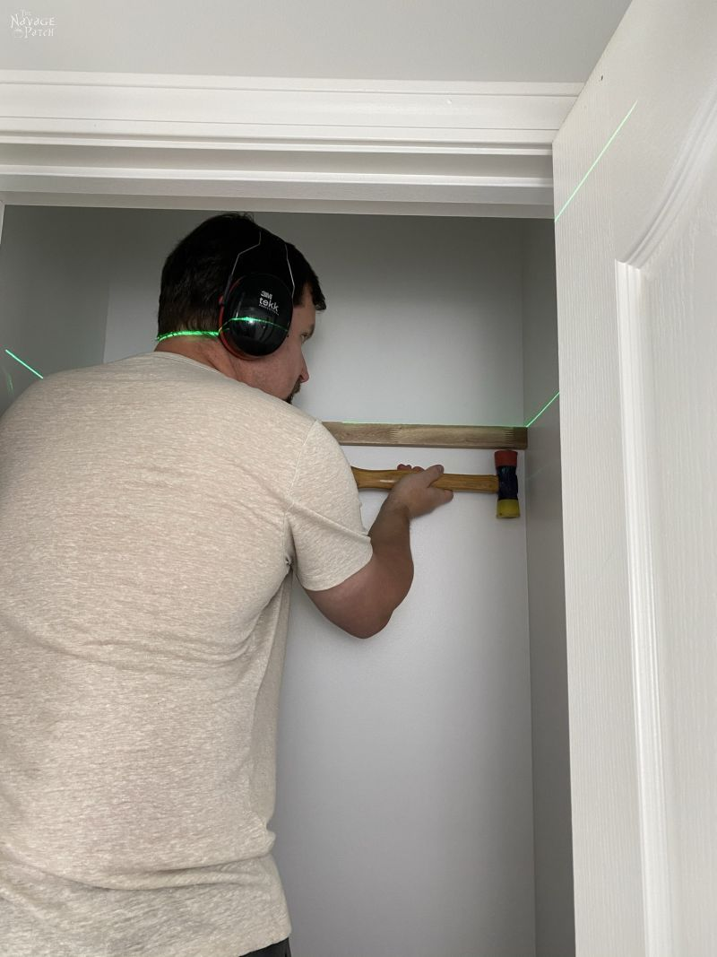 installing a coat closet shelf