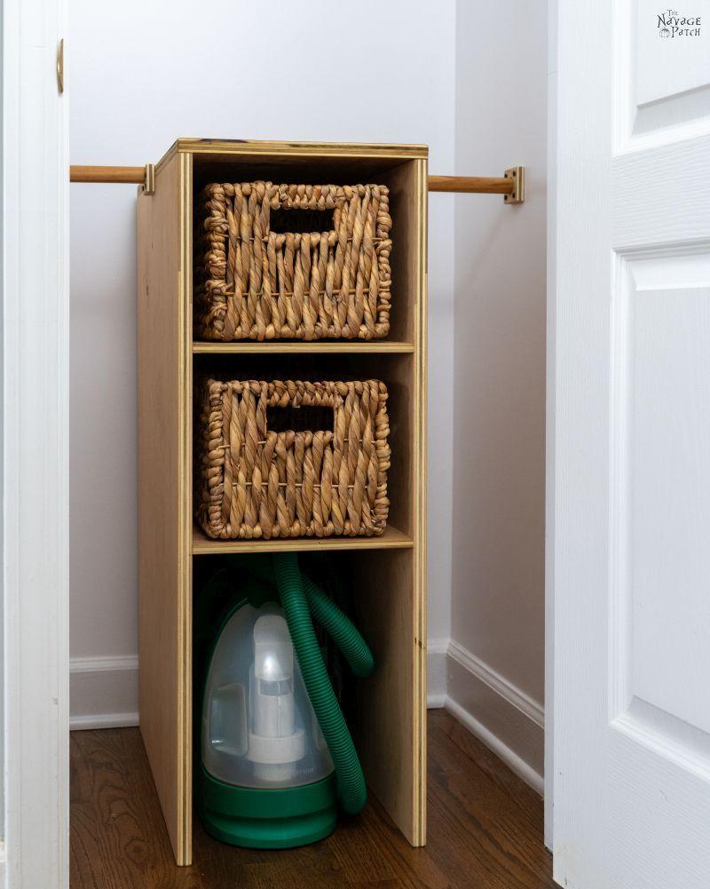 Coat Closet Storage Shelves - TheNavagePatch.com