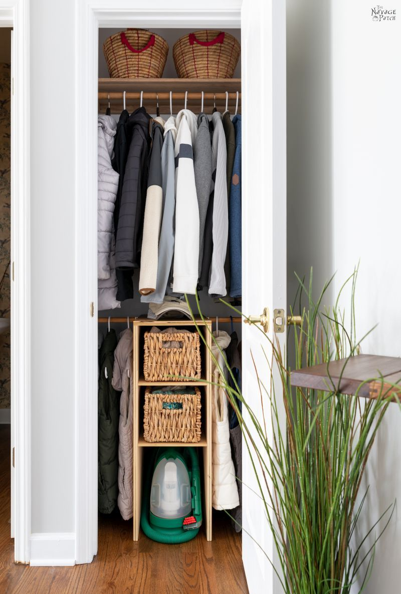 Coat Closet Makeover Reveal - TheNavagePatch.com