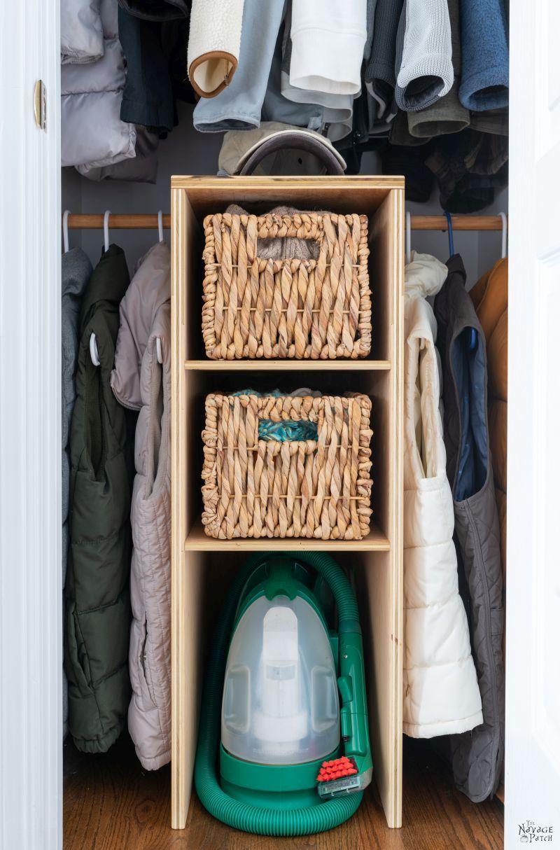 Coat Closet Makeover Reveal - TheNavagePatch.com