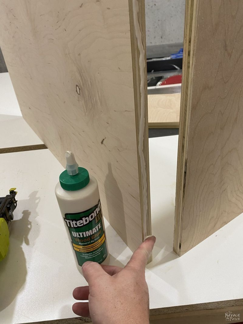 plywood pieces for closet storage shelves