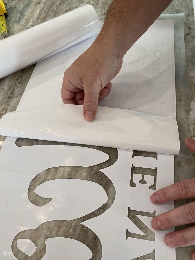 peeling a stencil