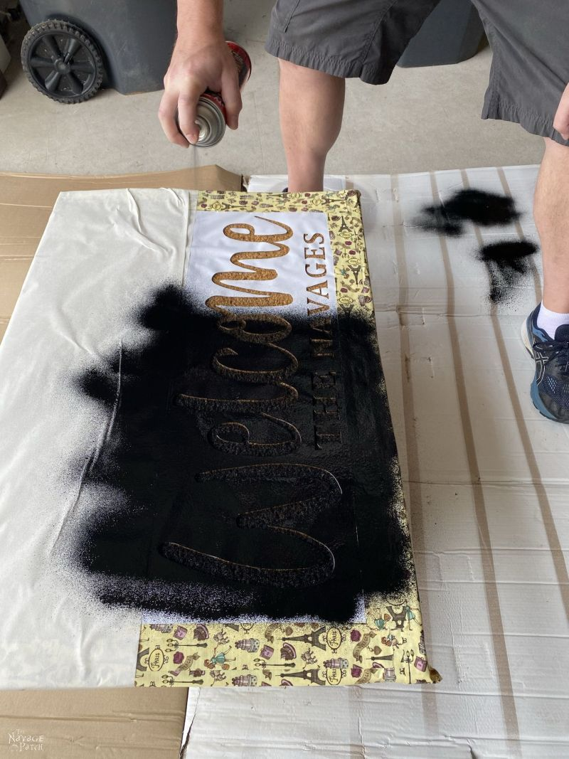 making a personalized door mat with flex seal