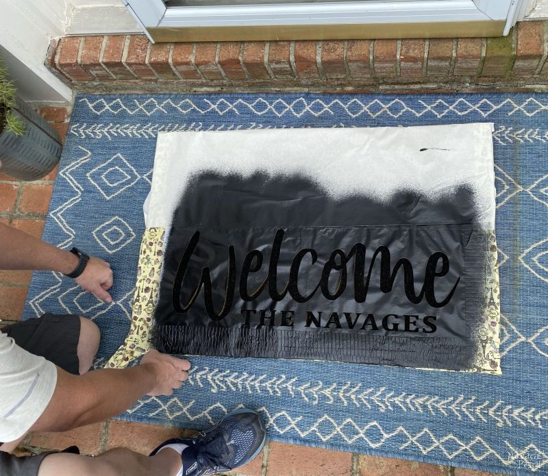 making a personalized door mat